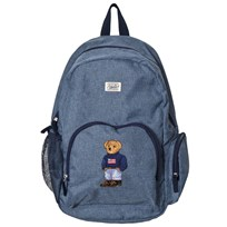 Ralph Lauren Chambray Bear Embroidered Backpack Blue Blue